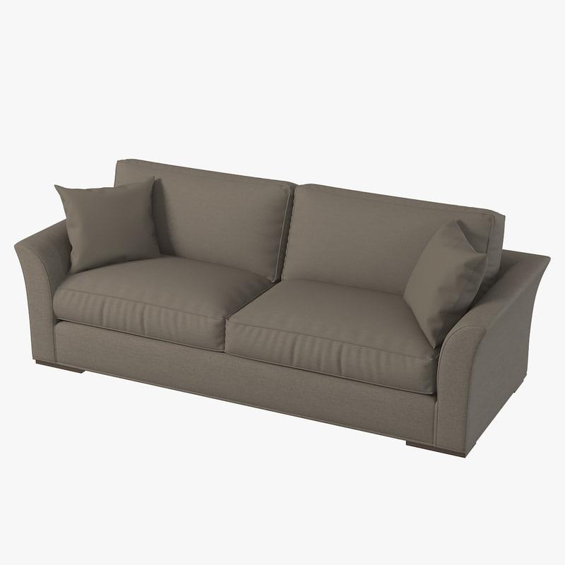 realistic sofa 3d model
