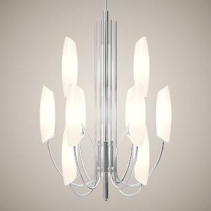 chandelier lights 3d model