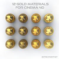 3d model gold materials