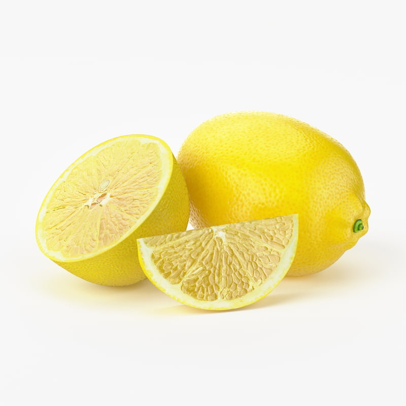 realistic lemon fruit real 3d max