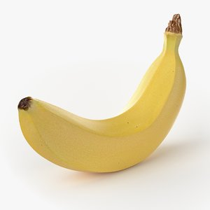 obj realistic banana fruit real