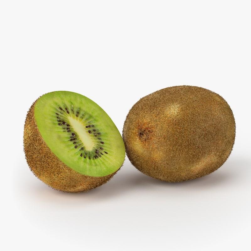 realistic kiwi fruit real 3d max