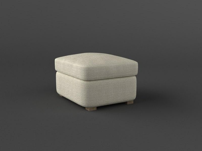 ottoman beige 3d model