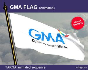 GMA (kapuso) animated flag