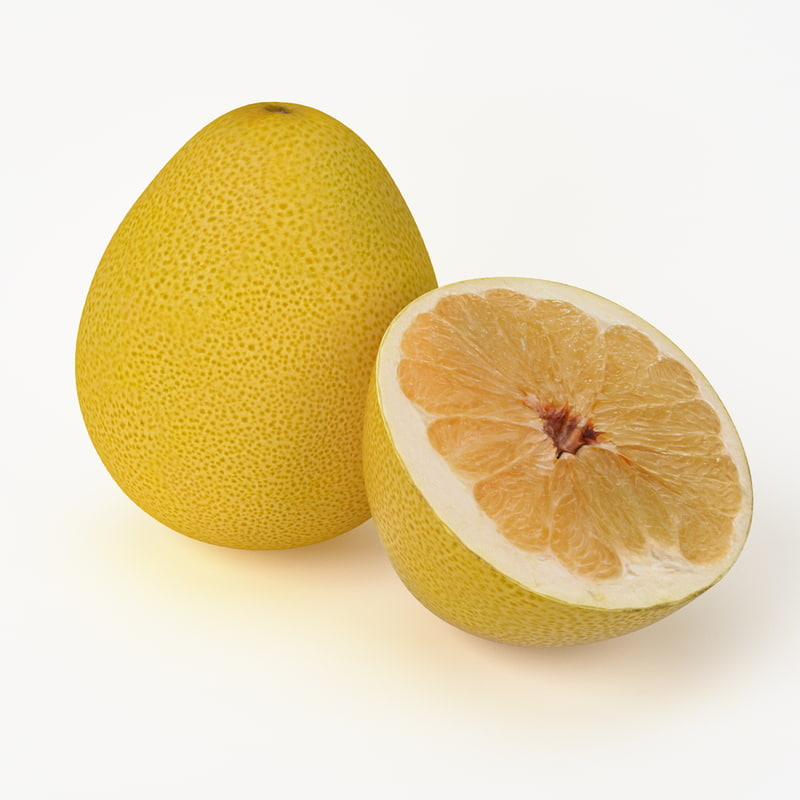 3d model realistic pomelo fruit real