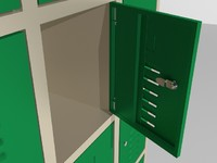 3d model steel locker