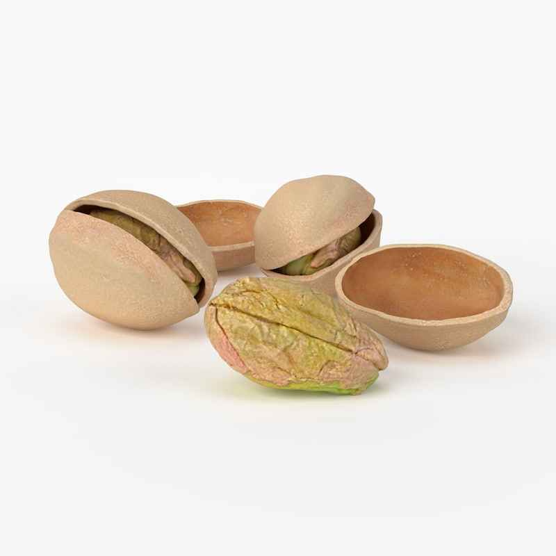 3d realistic pistachios real