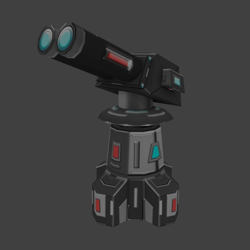3ds max sci-fi turret