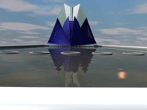 3d model of agora bridge city arts