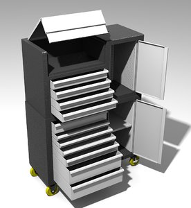 boxes mechanical work 3d model