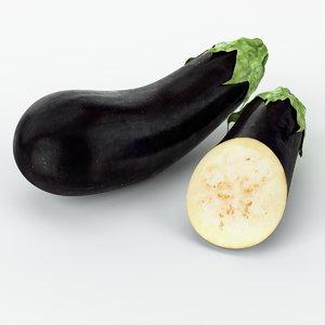 max realistic eggplant real vegetables