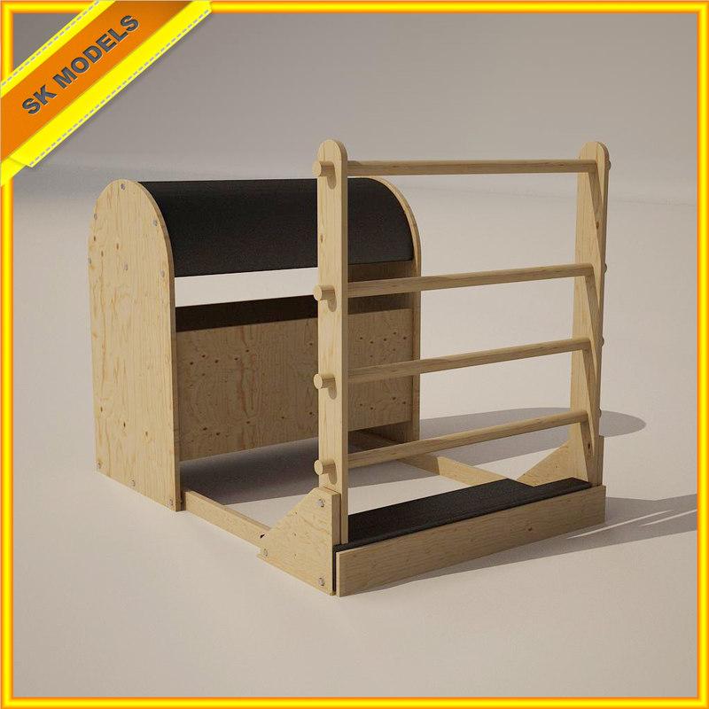 3d pilates barrel exercise model