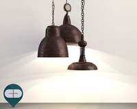 3d c4d lamp industrial