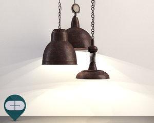 3d c4d lamp industrial