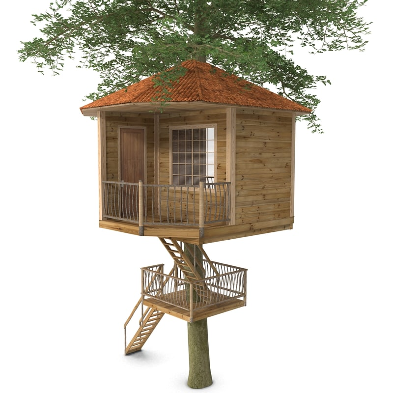 kids tree house 3d max