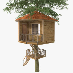 kids tree house 3d max