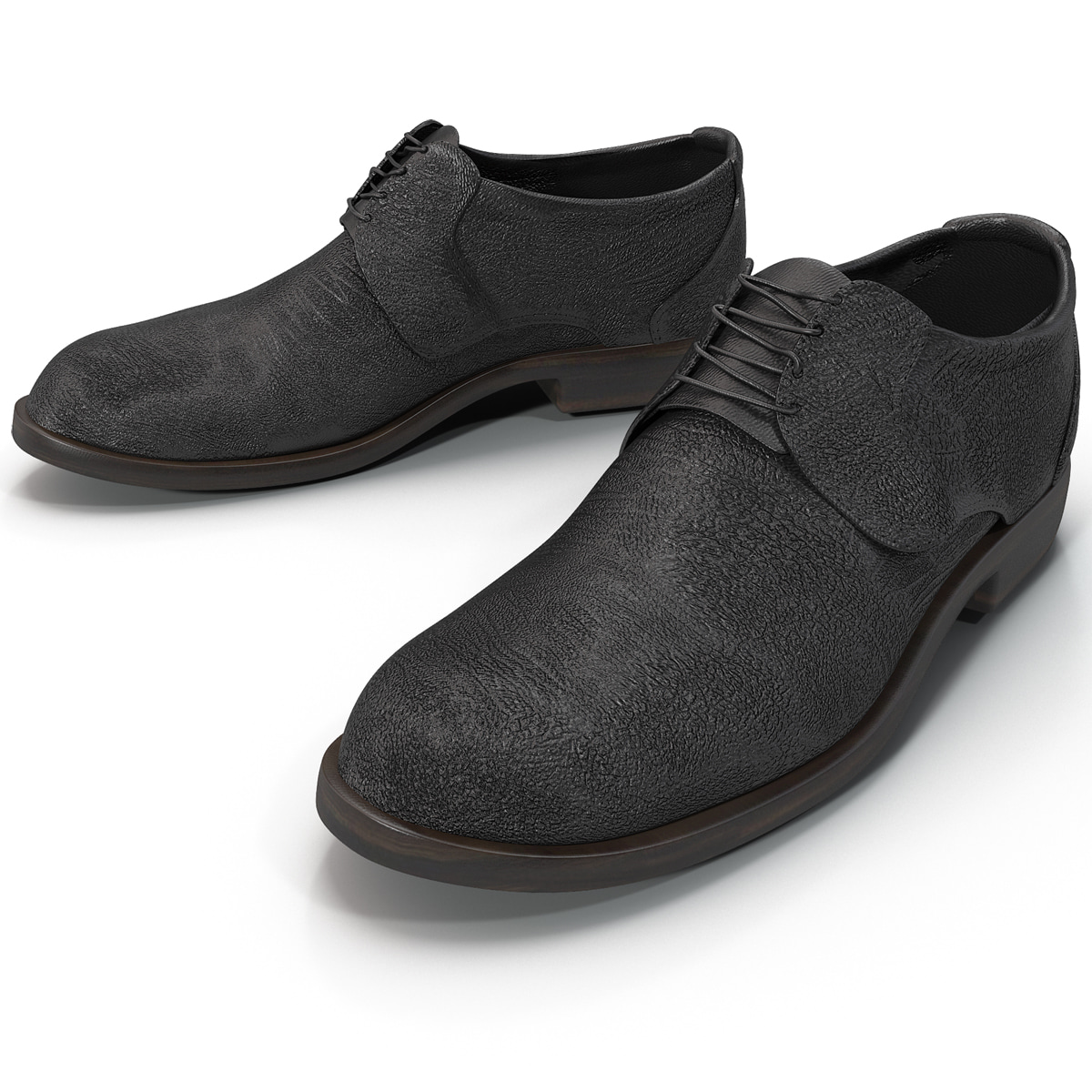 mens black shoes 3d model