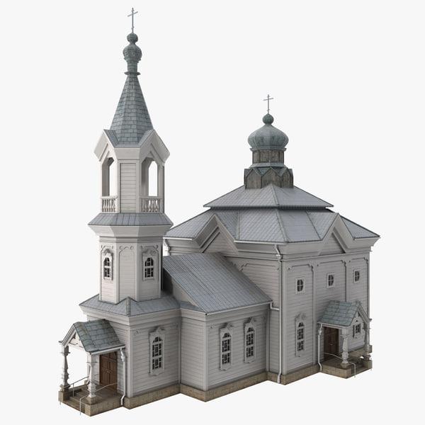 russian orthodox church 3d max