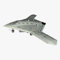 3d model x-47b ucas
