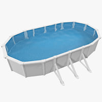 outdoor portable swimming pool 3ds