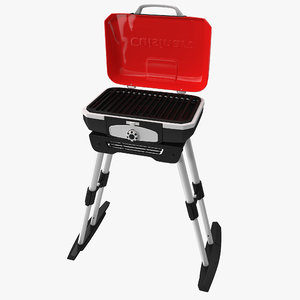 3d portable tabletop gas grill model