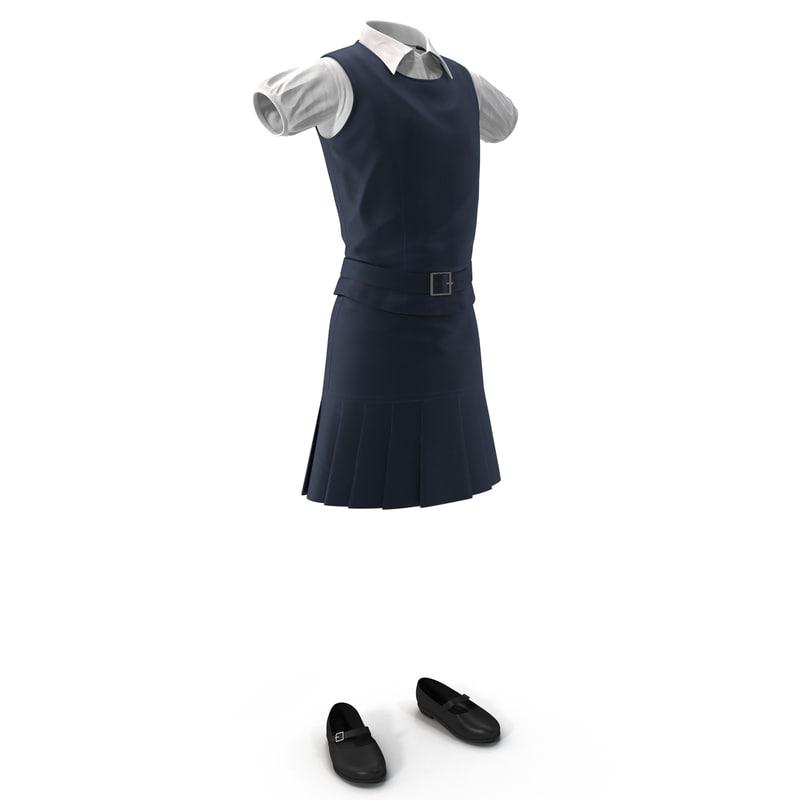 3d model of school uniform