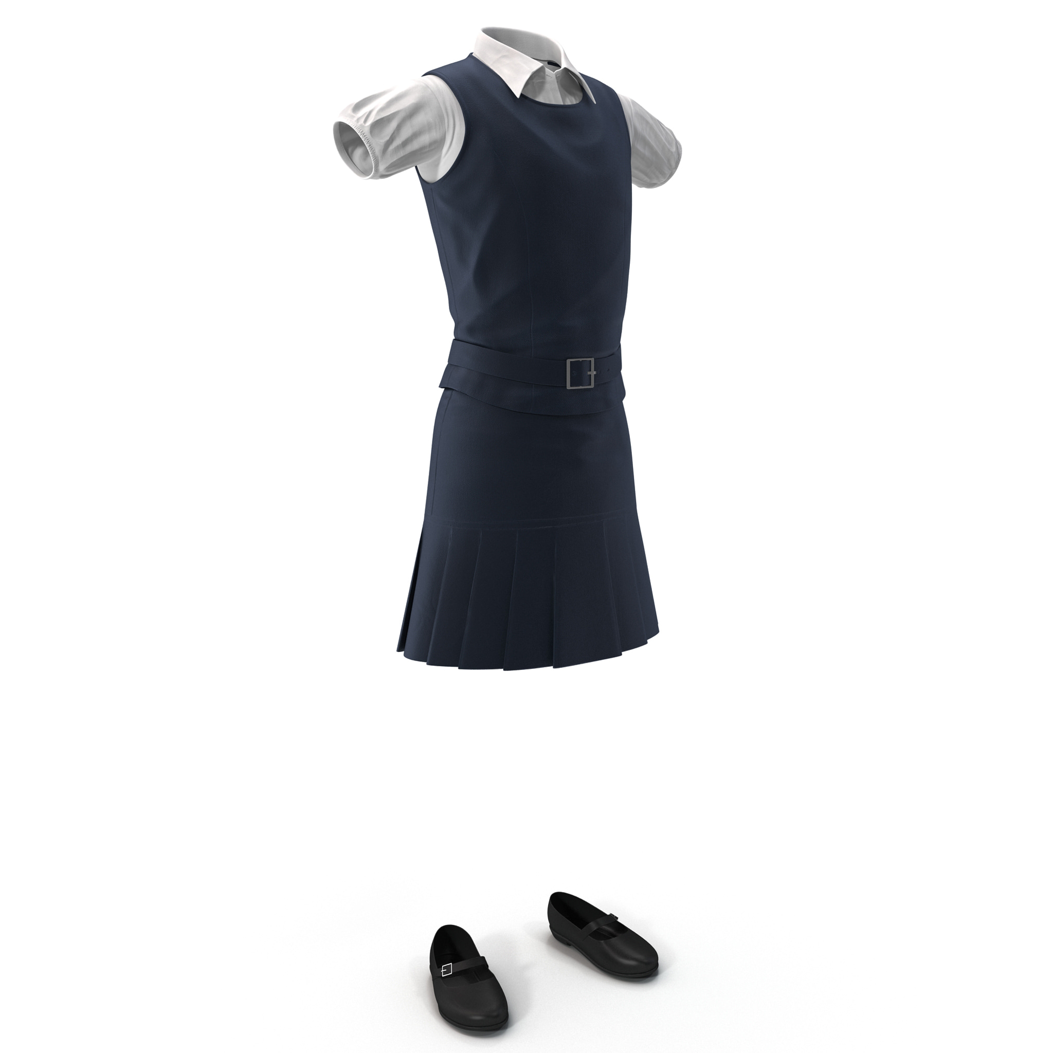 3d model of school uniform