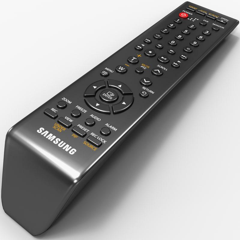 security remote samsung 3d model