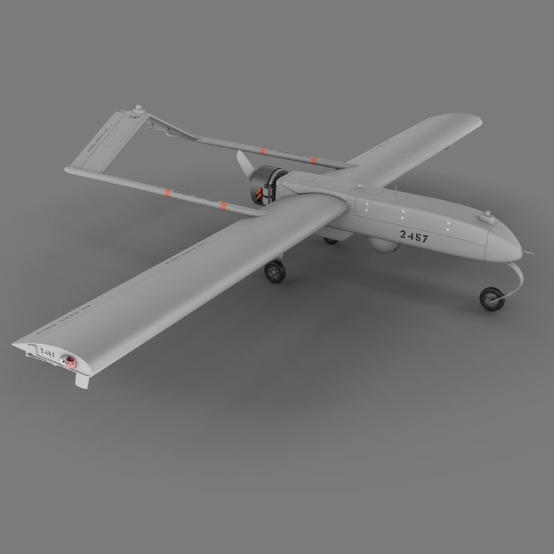 3d model rq-7 shadow unmanned aerial