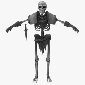 3d skeleton fighter
