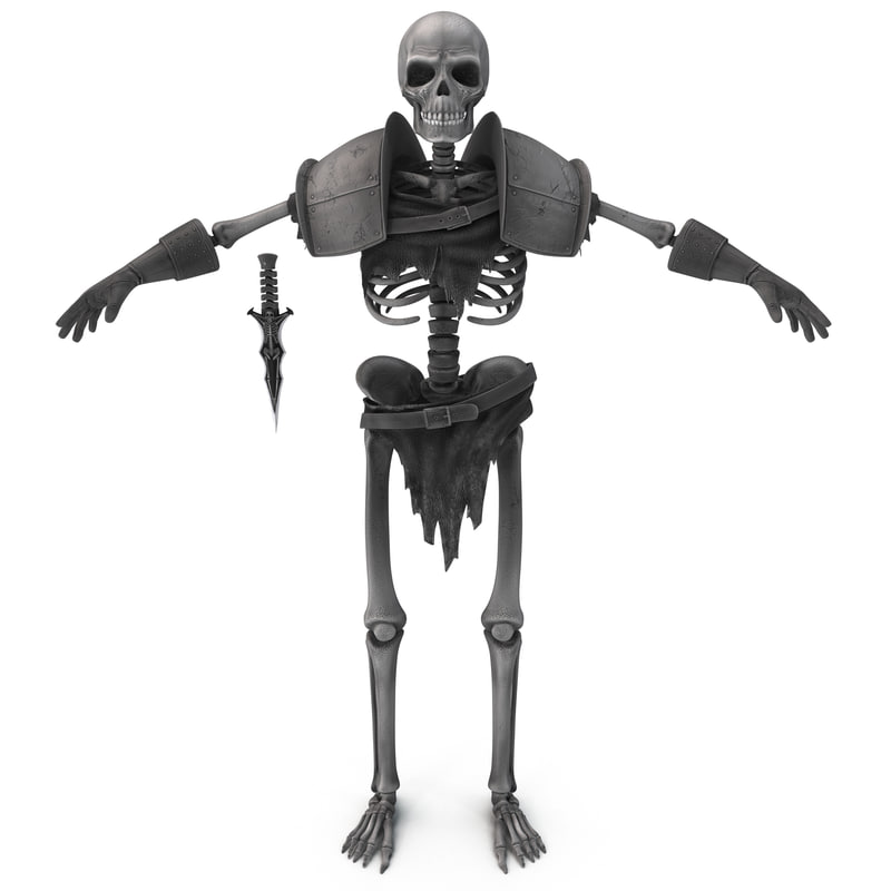 3d skeleton fighter