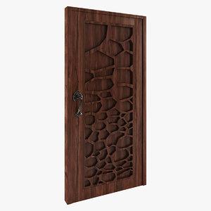 wooden handle tree 3d model