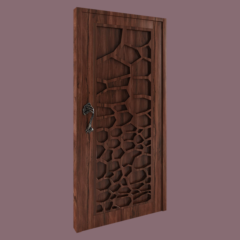 wooden handle tree 3d model