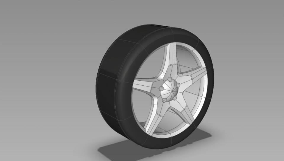 18 sport rim 3d model