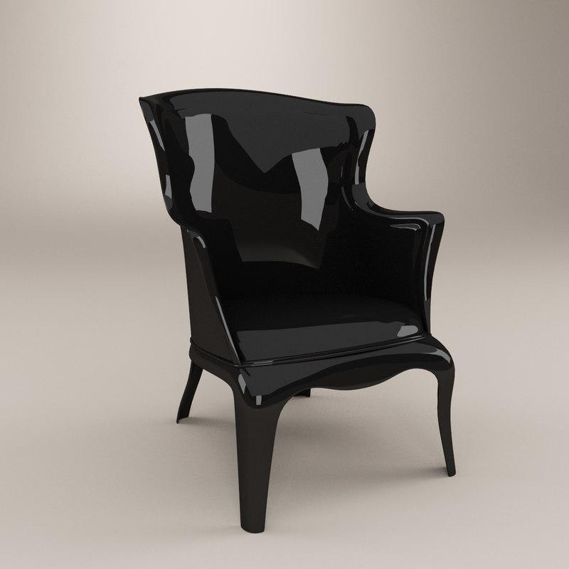 3d model armchair