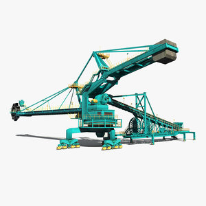 stacker reclaimer 3d max