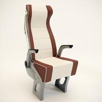 passenger seat chair 3d fbx