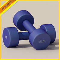 3d training dumbbells exercise