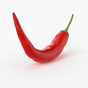 3d realistic chili real model