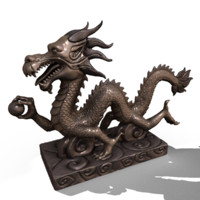 Asian Chinese Dragon Statue