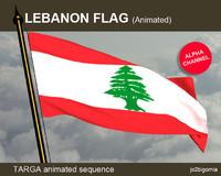 Lebanon Animated flag