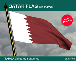 Qatar Animated Flag