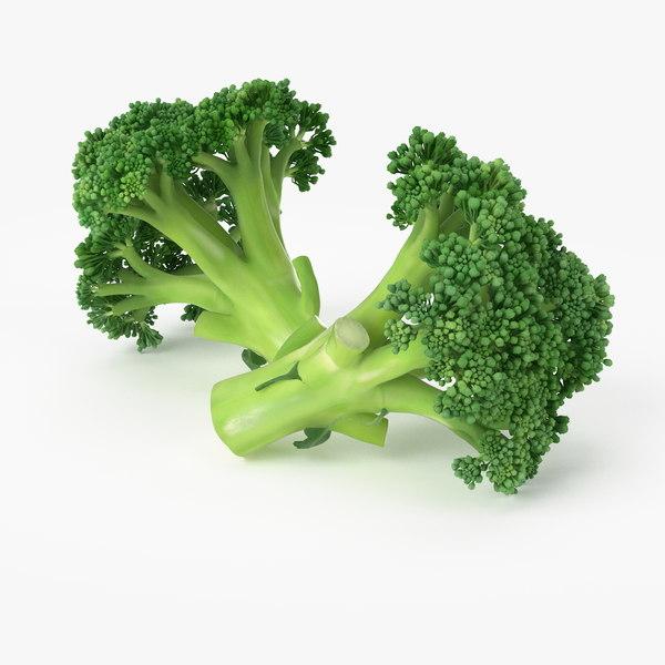 3d realistic broccoli real model