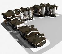 townbuilding house building 3d model
