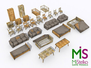 furniture abandoned sofa beds 3d max