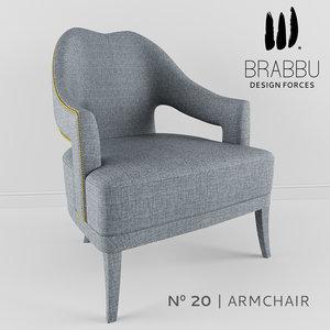 brabbu - 20 armchair 3d model