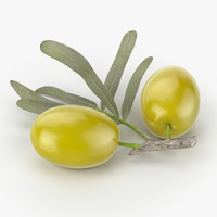 3d realistic olives real