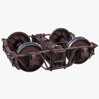 3d model train wheels 4