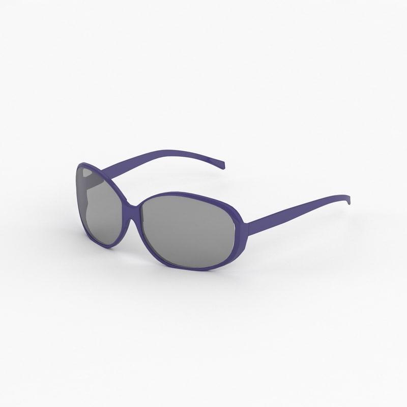 3d fendi sunglasses model