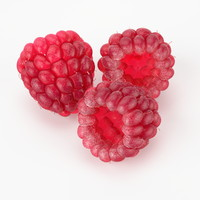 3d realistic raspberry real fruit model